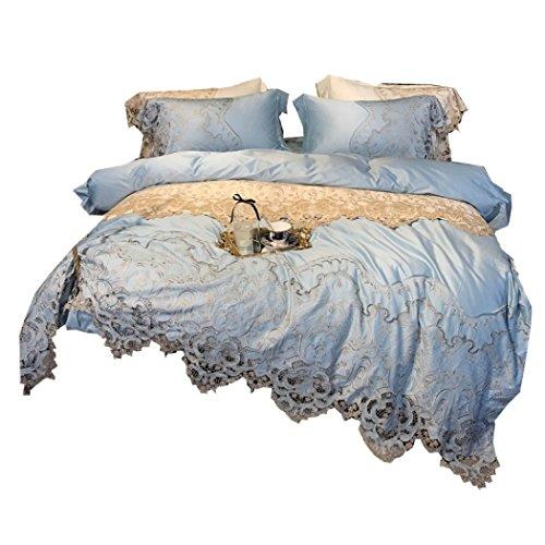 Bettwäsche Bettbezug Hochwertige französische Spitze Bettbezug-Sets Bettwäsche Bettwäsche und Kissenbezüge Bettdecken-Sets Modell Bettwäsche,Queen 200*230cm (Bettdecke Queen-französisch)