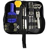 Portable 30pc Watch Repair Tool Kit - Wristband, Change, Opener, Screwdrivers in Zip Case by Kurtzy