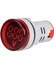 Coromose Voltage Indicator 22mm LED Digital Display Gauge Volt Voltage Meter Indicator Signal Lamp Voltmeter Lights Tester Combo Measuring Range 60-500V AC red