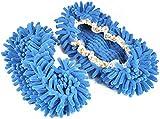 Viskey Comforable Dust Mop Slippers Shoes Floor Cleaner, Blue