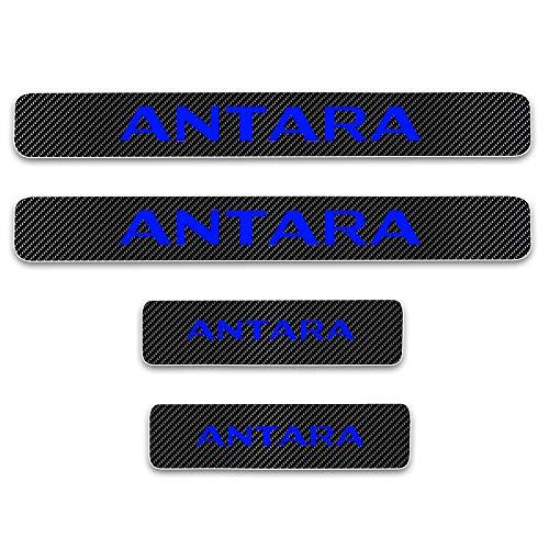 HCDSBSN Für opel Corsa Mokka vivaro Antara Astra Insignia türschwellenplatte autotürschwellenverschleißplatte kohlefaser Vinyl Aufkleber 4 stücke