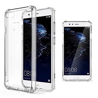 Moozy Transparent Silikon Hülle für Huawei P10 Lite - Stoßfest Klar TPU Case Handyhülle Schutzhülle