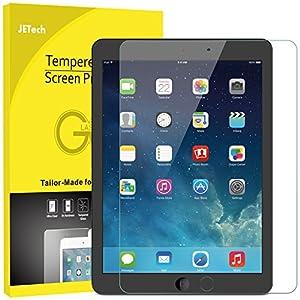 JETech Protector de Pantalla para Apple el Nuevo iPad (9,7 Pulgadas, 2018/2017 Modelo), iPad Air 1, iPad Air 2, iPad Pro 9,7