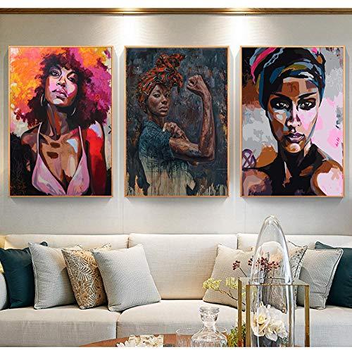 Schwarz Weiß Afrikanische Nackte Frau Leinwand Malerei Poster und Drucke Wandkunst Bild für Wohnzimmer Dekor büro renovierung -