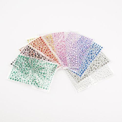 stoßstange Basispaket von 3250 selbstklebende aufkleben Glitzersteine Kristall Edelsteine zum Basteln & DIY - Der unglaubliche preiswert Stoßstange packung - begrenzte lager