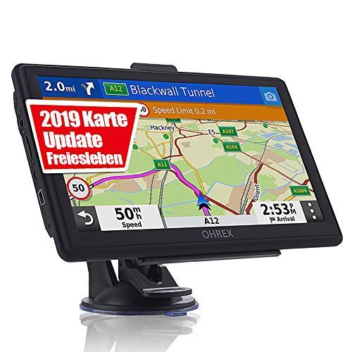 OHREX Navigation für Auto LKW, 7 Zoll Touchscreen GPS Navi Navigationsgerät mit POI Sprachführung Fahrspurassistent PKW KFZ mit Lebenszeit Kostenlose Kartenupdates 2019 Europa Karten
