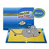 Wemk Trampa para Ratones, Amarillo, 1 caja con 20 piezas