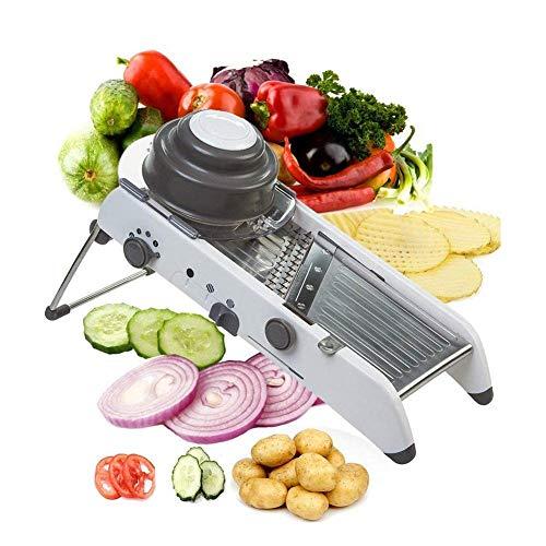 Altamente versatile:strumento da cucina piacevole, basta girare e impostare l'interruttore, perfetto per tagliare e mele, cipolle, carote, zucchine, cetrioli, cavoli, barbabietole, rape, ravanelli, patate dolci, zucche e altroPerché scegli ADOV Mando...