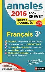 Annales ABC du BREVET 2016 Français 3e