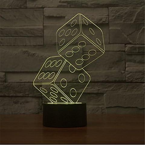 JUSUBA Creativo Double Dice 3D per visualizzazione stereo luce della
