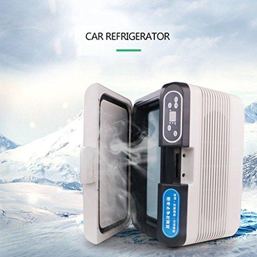 LXD Réfrigérateur portatif 12L de réfrigération double noyau de réfrigérateur portatif de petite taille de voiture de congélateur et de réfrigérateur à double usage à la maison mini-réfrigérateur de