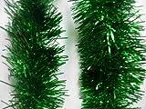 1 Green Tinsel Christmas Decorations X'mas Tree 9cmx2m