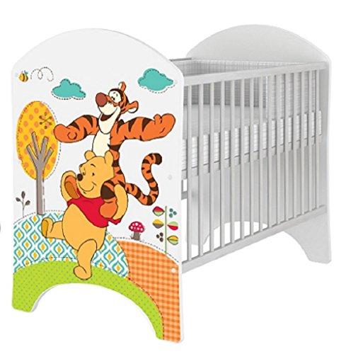 Cuna 120x 60cm diseño DISNEY de Minnie Mouse, Mickey Mouse, Winnie de Pooh, Bambi