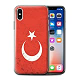 Stuff4 Coque Gel TPU de Coque pour Apple iPhone XS/Turquie/Turc Design/Drapeau...