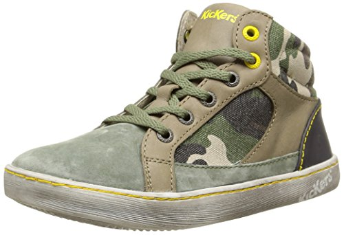 KickersLynx - Scarpe da Ginnastica Basse Bambino Vert (Kaki Camouflage)