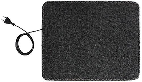 INROT Heiz Systeme Infrarot Teppichheizung mit 20 Watt Leistung, 40 x 50 cm, inklusive Steckdosenschalter, - Carbon Entflammbar X-schwer