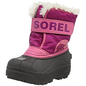 Sorel Children Unisex Boots, CHILDRENS SNOW COMMANDER, Pink (Deep Blush/Tropic Pink), Size UK: Child 9