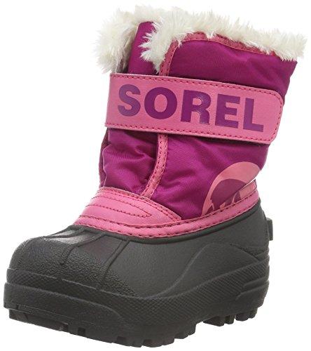 Sorel Unisex-Kinder Childrens Snow Commander Schneestiefel Pink (Tropic Pink, Deep Blush 652Tropic Pink, Deep Blush 652)