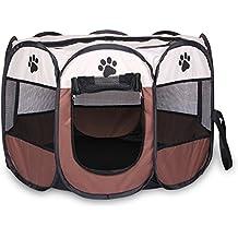 Casa para mascotas plegable, portátil e impermeable, para perros pequeños o gatos, en