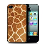 eSwish Coque de Coque pour Apple iPhone 4/4S / Modèle Fourrure Girafe Design/Motif Imprimé Animal Mode Collection