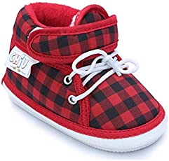 CHiU Chu-Chu Checks Pattern Shoes Strap with Lace for Baby Boys & Baby Girls