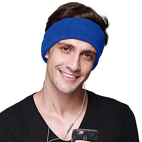 CHOKMAX Schlafkopfhörer Mit Ultradünnen, Verstellbaren Lautsprechern Komfortable Schlafaugenmaske Aus Weichem Fleece Zum Schlafen, Perfekt für Flugreisen, Meditation und Schlaflosigkeit - Blau