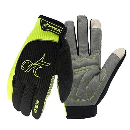 (Wooya Reflexion Warme Volle Finger Handschuhe Touch Screen Motorrad Radrennen Outdoor-Sport-Grün-L)