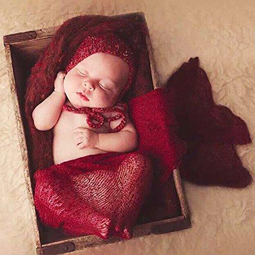 Butterme Neugeborene Baby-Fotografie Stützen - lange Ripple Wrap Decke DIY Baby Foto ()