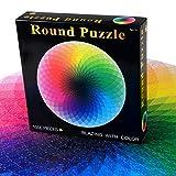 WUYEA 1000 Teile Runde Stichsäge Kreative Regenbogen-Palette Puzzle Stressabbau-Spielzeug für Erwachsene und Kinder