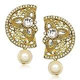 Amaal Traditional Earrings Fancy Party Wear Kundan Moti Daimond Earrings For Women - T0369