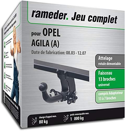 Rameder Attelage rotule démontable pour Opel AGILA (A) + Faisceau 13 Broches (161786-04474-2-FR)
