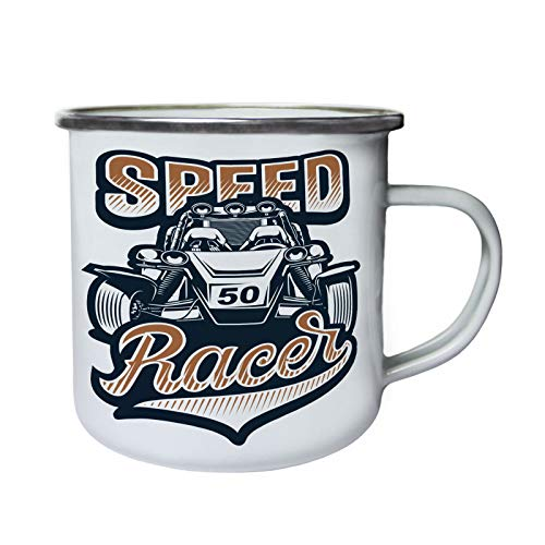 Speed Racer 50 Car Retro, Zinn, Emaille 10oz/280ml Becher Tasse ff822e (Racer-becher Speed)