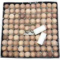 Meili - Punta para Billar de Billar (Piel, 9 mm, 10 mm, 11 mm, 12 mm, 13 mm), Color Gris y marrón, marrón, 11 mm