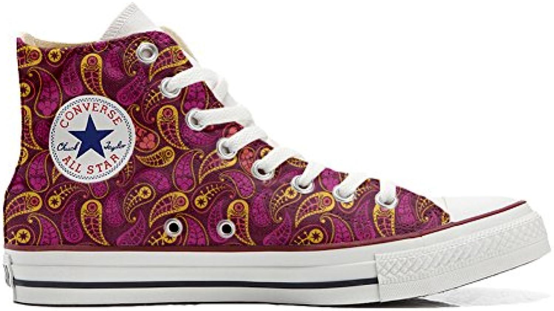 Converse all Star Scarpe Personalizzate (Scarpe Artigianali) Decor Paisley | Caratteristico  | Uomini/Donne Scarpa