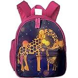 Hexa Giraffes Kids Mini Backpack Shoulder Schoolbag with Front Pockets