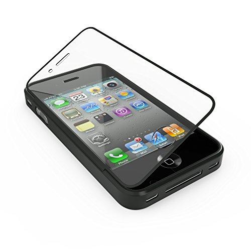 youcase - Apple iPhone 4 4S Touch Case TPU-Schutz-Hülle mit Schutzfolie Displayfolie Outdoor Smart Cover Tasche Etui Silikon schwarz