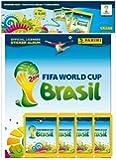 Panini 309950 - FIFA World Cup Brasil 2014 Deluxe Starterset mit Hardcover Sammelalbum, 4 Tüten mit je 5 Sticker