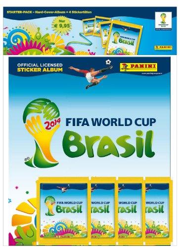 Panini 309950 - FIFA World Cup Brasil 2014 Deluxe Starterset mit Hardcover Sammelalbum, 4 Tüten mit je 5 Sticker (2014 Cup World Panini Sticker)