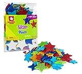 Creative Hands Stars GLITZER Schaumstoff Sticker Dose, mehrfarbig