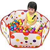 Longra À pois Enfants Ballon Jouer Piscine Tente Carry Tote Toy