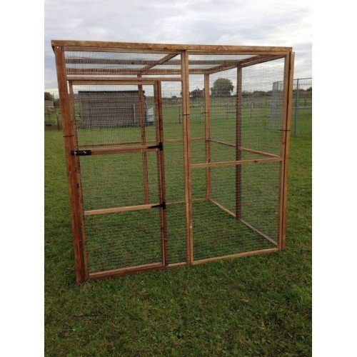 4Fil Walk In Animal Run 6FT Bird Rabbit Chicken Enclosure Outdoor Pet Run