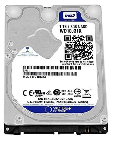 WD Blue 1TB SSHD Interne Festplatte (6,4 cm (2,5 Zoll) für den Einsatz in PCs, Hochleistungs-Workstations und