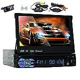 Eincar 7inch WinCE 6.0 1Din Autoradio Auto-DVD-Player HD 800 * 480 Digital Touch Screen 8GB GPS-Navigations-Auto-Radio Bluetooth Auto-Spieler in Dash FM / AM RDS Subwoofer Wireless-R¨¹ckseiten-Kamera