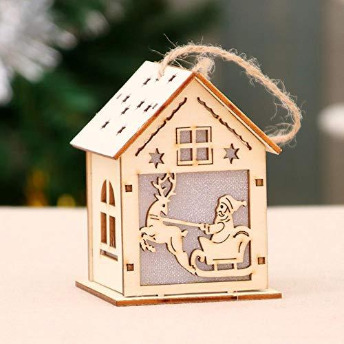 Spfazj natale in legno casa natale decorazioni albero di natale di glow snow house hotel bar decorazione ornamenti finestra regalo fai da te ornamenti