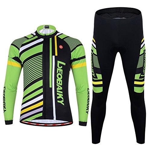 Maxmer abbigliamento ciclismo set abbigliamento sportivo per bicicletta maglia e pantaloni da uomo