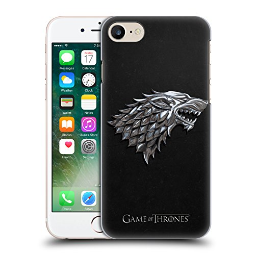 Official HBO Game Of Thrones Silver Stark Embossed Sigils Hard Back Case for Apple iPhone 7