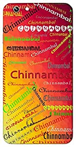 Chinnambal (Add Meaning) Name & Sign Printed All over customize & Personalized!! Protective back cover for your Smart Phone : Apple iPhone 7