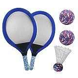 YIMORE Raquettes de Tennis Badminton Set Tennis Jeux Exterieur Ball Jouet de Plage en Plein air pour Enfant 3 4 5 Ans (Bleu)