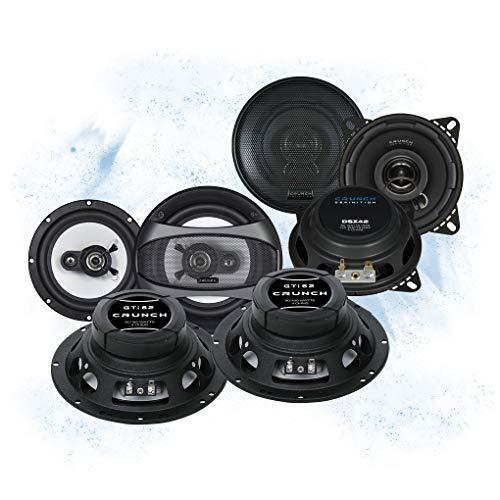 Crunch Front/Heck 16,5cm/10cm Auto Lautsprecher/Boxen/Speaker Komplett-Set für VW