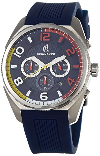 Spinnaker Reef Men's Quartz Watch with Blue Dial Chronograph Display on Blue Silicon Band SP-5022-03
